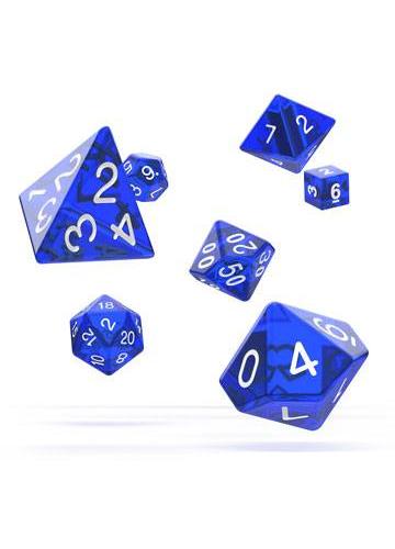 Oakie Doakie: Dice Dados RPG-Set Translucent - Azul